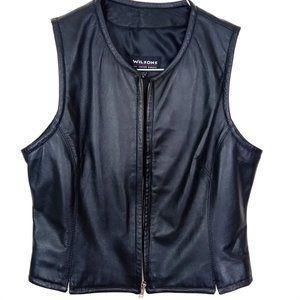 Wilsons Women's Black Leather Vest - Medium